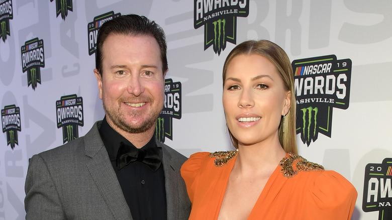 Kurt y Ashley Busch en los premios NASCAR