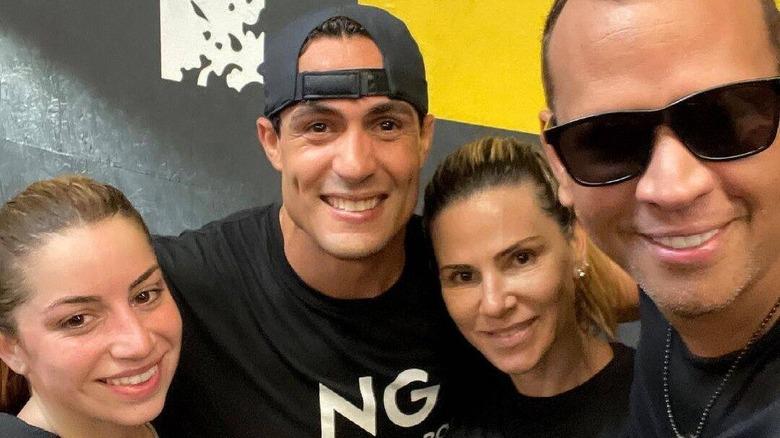 Alex Rodríguez y Cynthia Scurtis juntos