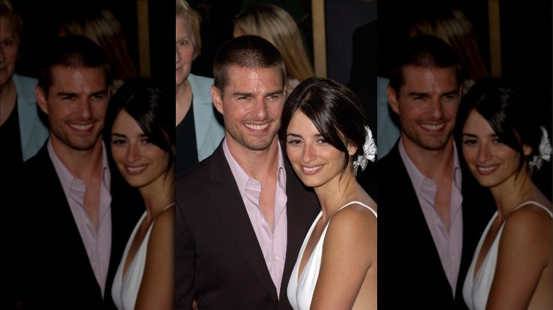 Tom Cruise y Penélope Cruz sonriendo