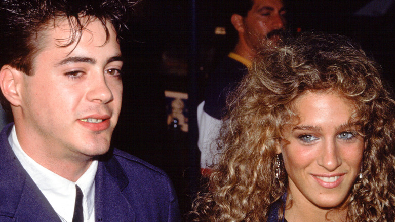 Robert Downey Jr. y Sarah Jessica Parker sonriendo