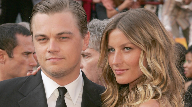 Leonardo DiCaprio y Gisele Bündchen posando juntos