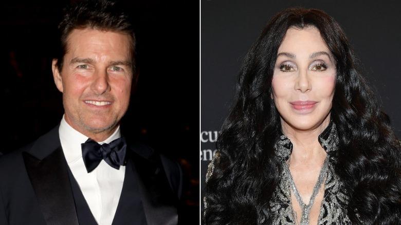 Tom Cruise y Cher sonriendo en eventos
