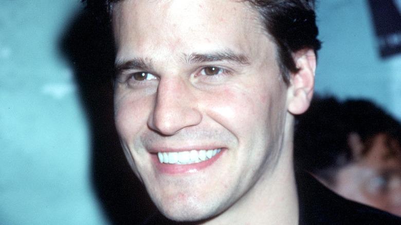 Joven David Boreanaz sonriendo