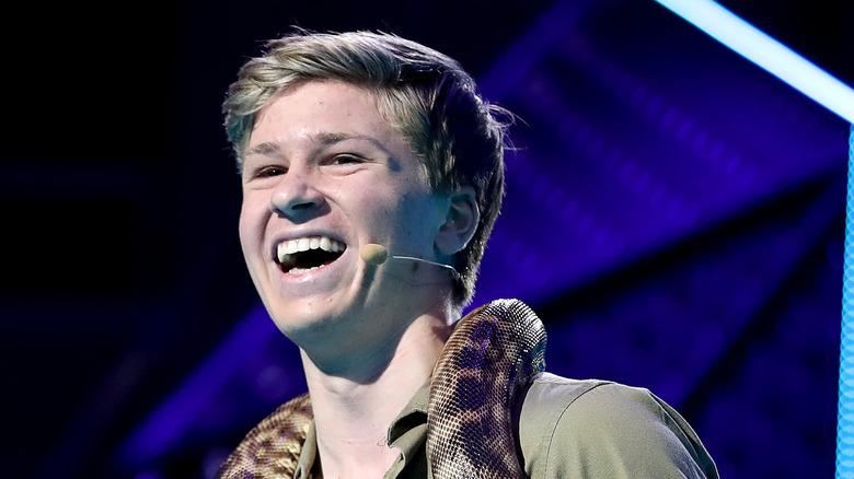 Robert Irwin sonriendo, feliz