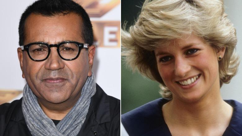 Martin Bashir y la princesa Diana, imagen dividida