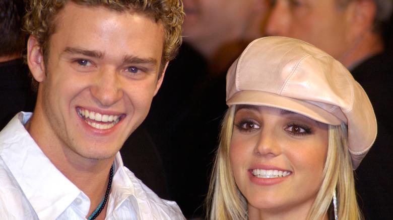 Justin Timberlake con ex Britney Spears, ambos riendo