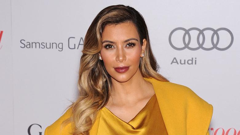 Kim Kardashian en la alfombra roja