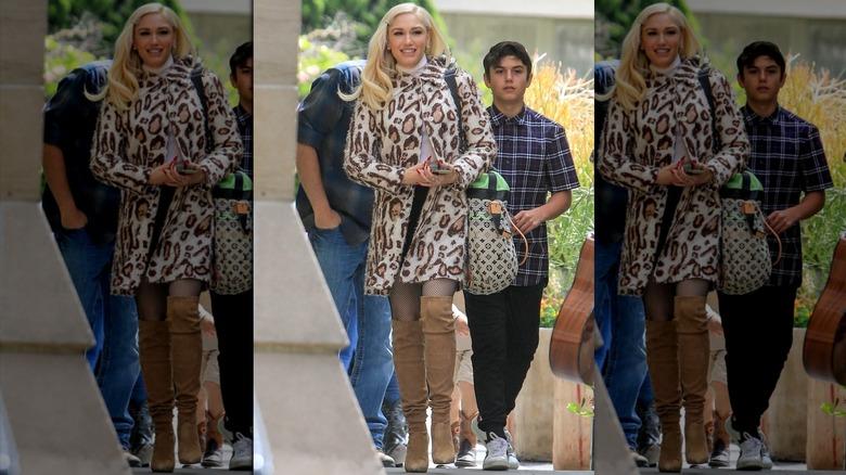 Gwen Stefani con estampado de leopardo