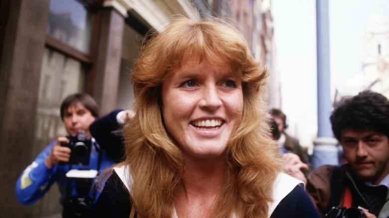 La joven Sarah Ferguson, sonriendo