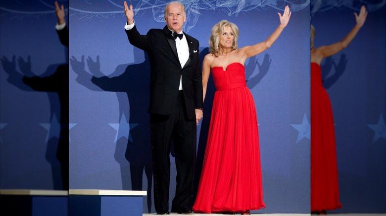 Joe y Jill Biden durante el baile de inauguración de Barack Obama