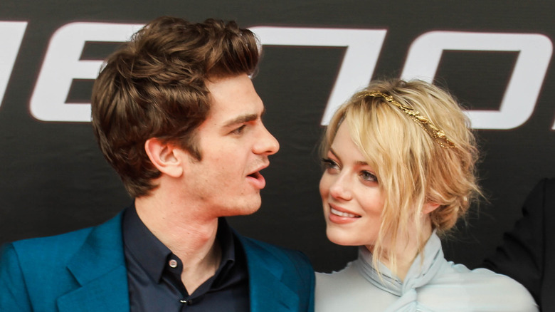 Andrew Garfield y Emma Stone en el estreno de The Amazing Spider-Man