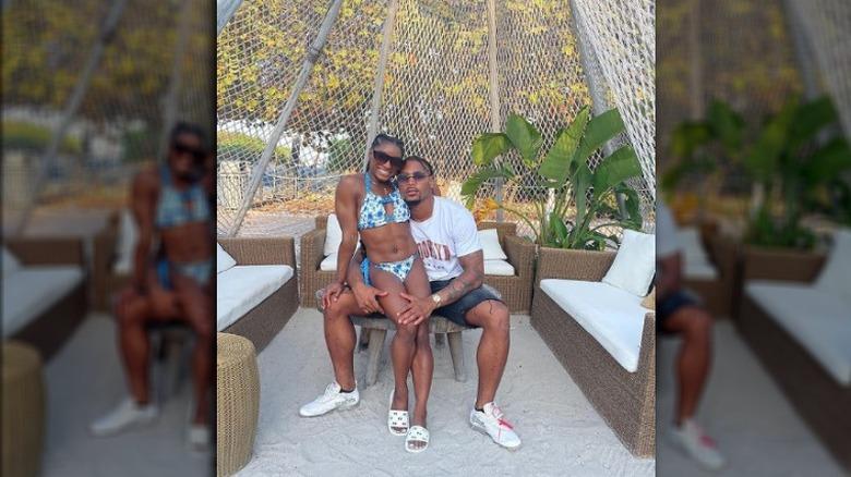Simone Biles y su novio en Instagram