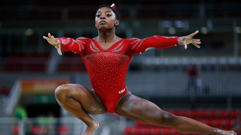 Simone Biles en los Juegos Olímpicos de 2016