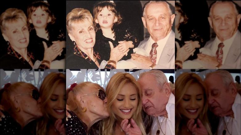 Montana Tucker con sus abuelos