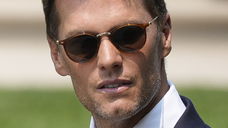 Tom Brady con gafas de sol en la Casa Blanca