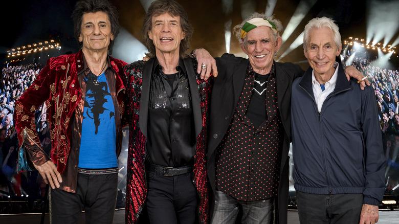 Charlie Watts con los Rolling Stones