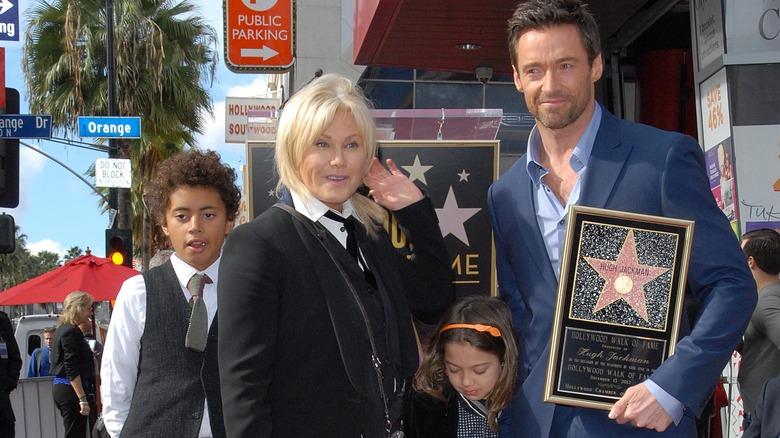 Familia Jackman, Paseo de la Fama de Hollywood, 2012
