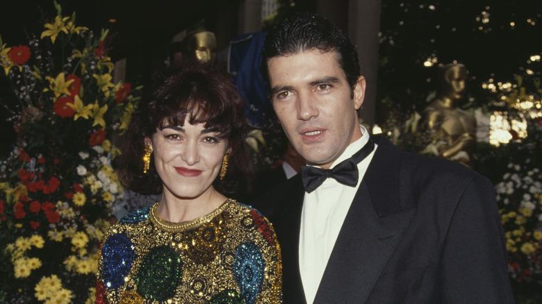 Antonio Banderas y Ana Leza posando