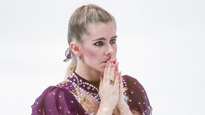 Tonya Harding en la competición de patinaje artístico de Lillehammer