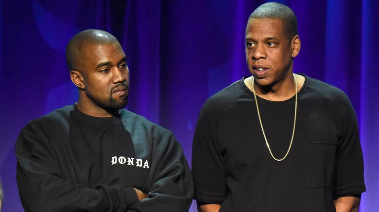 Kanye West y Jay-Z en 2015