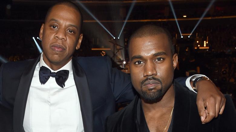 Jay Z y Kanye West en 2015