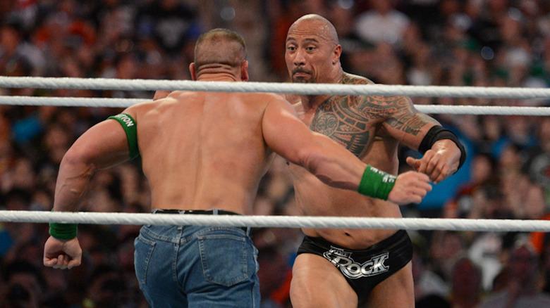 The Rock y John Cena en WrestleMania 29