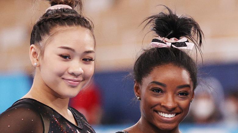 Competencia Suni Lee y Simone Biles