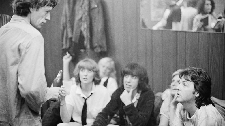Mick Jagger y Paul McCartney juntos